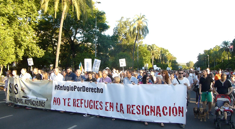 marcha refugiados Córdoba 20 junio 2016